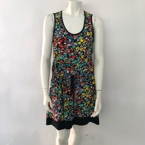 Marc by Marc Jacobs 100% silk colorful dress M